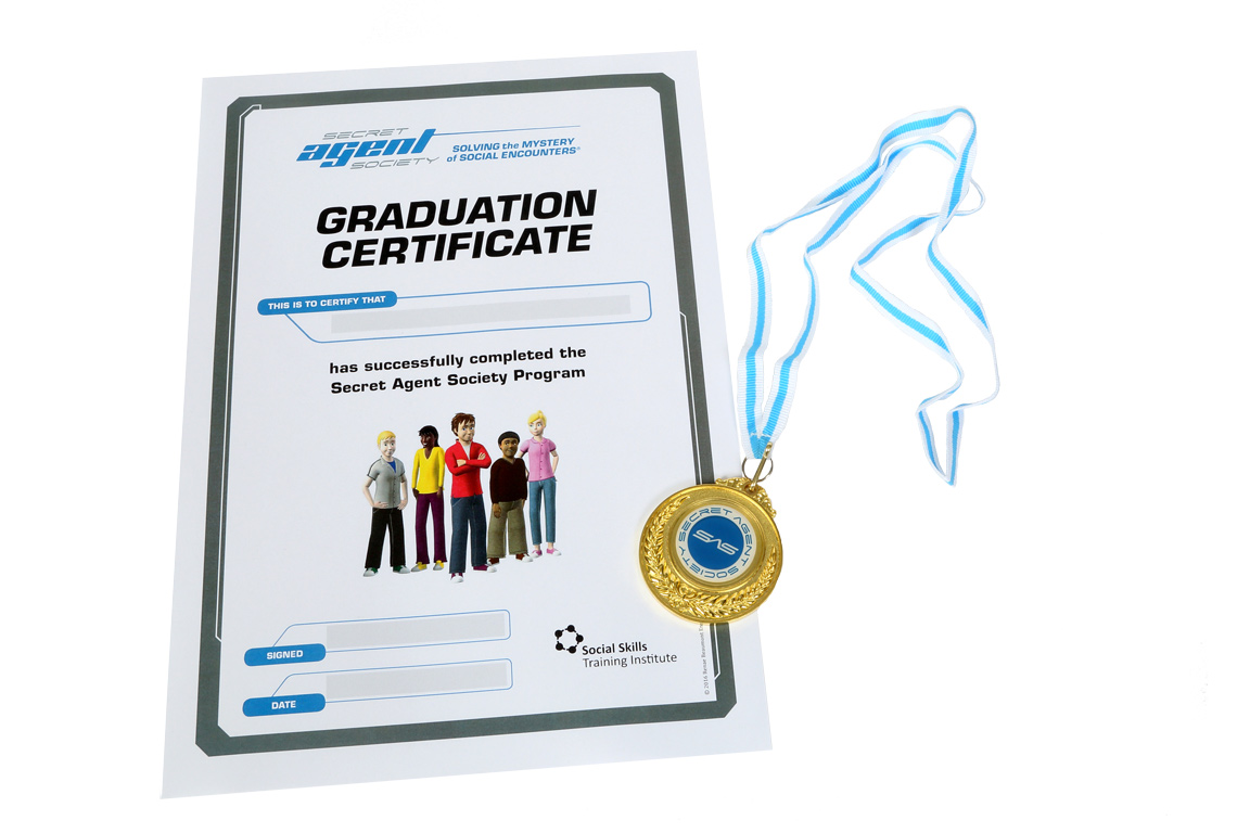 Secret Agent Society Graduation Certificate