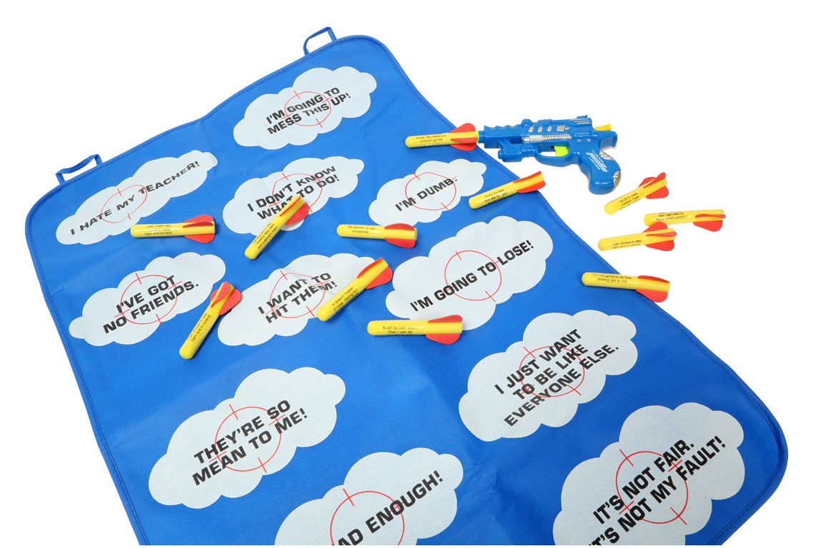 Helpful Thought Missile Action Game for fun cognitive behaviour therapy