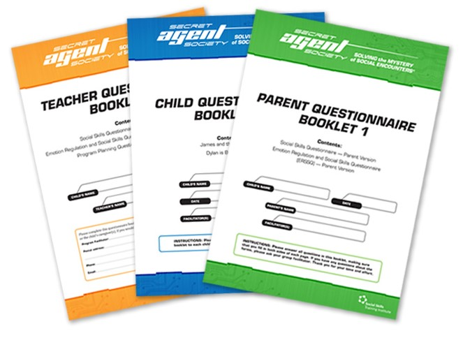 Secret Agent Society Questionnaire Booklets make measuring outcomes easy